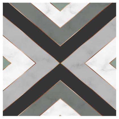 gray geometrical neck pillow