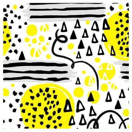 black yellow geometrical neck pillow
