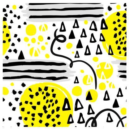 black yellow geometrical suitcase