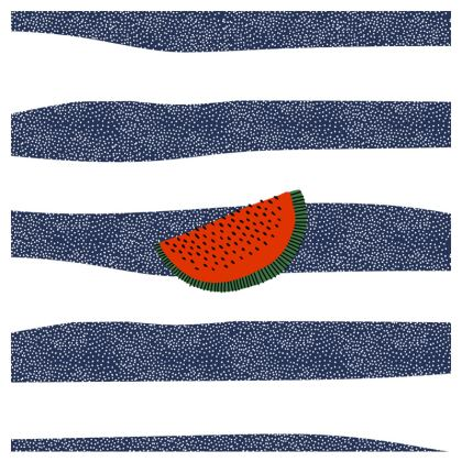 watermelon leather clutch bag