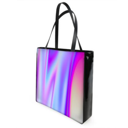 holo effect shopper bag