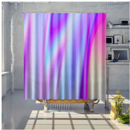holo effect shower curtain