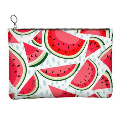 watermelon leather clutch bag