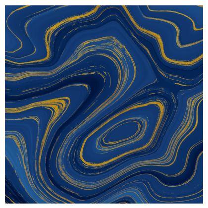 blue gold marble espadrilles