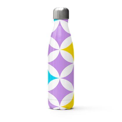pastel stars stainless steel thermal bottle