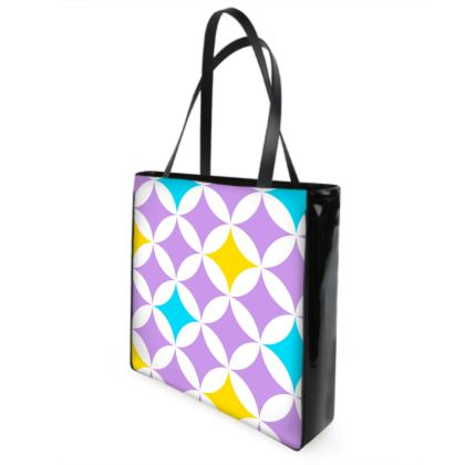 pastel stars shopper bag