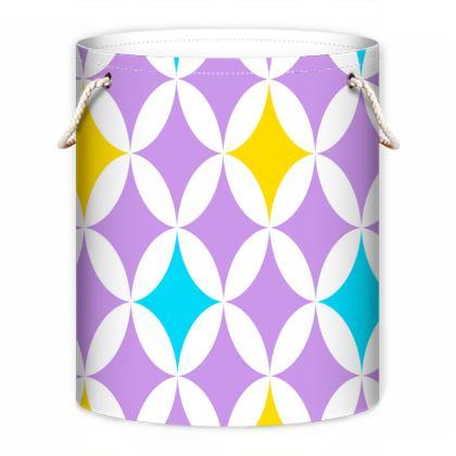 pastel stars laundry bag