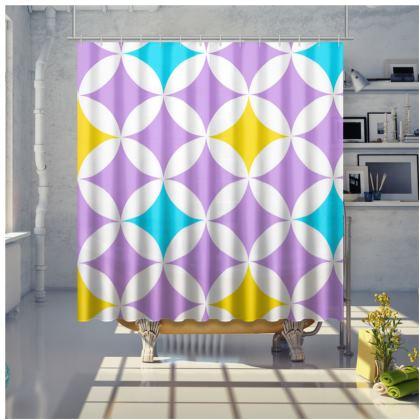 pastel stars shower curtain