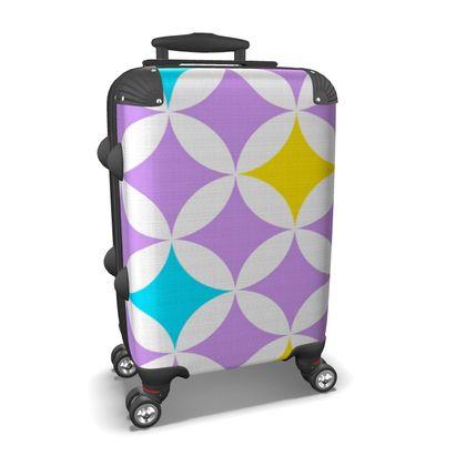 pastel stars suitcase