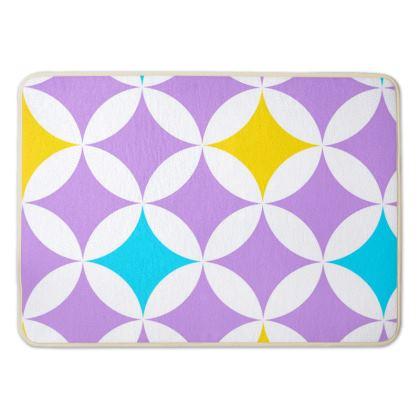 pastel stars bath mat