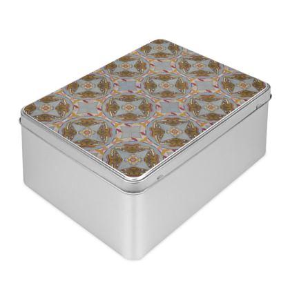 Emperor Moths Design Large Tin