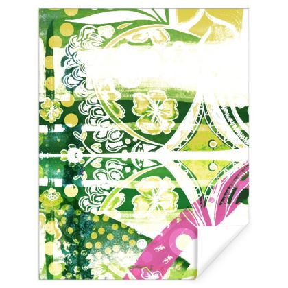 Green and Yellow Bohemian Wrapping Paper