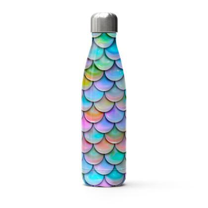 mermaid stainless steel thermal bottle
