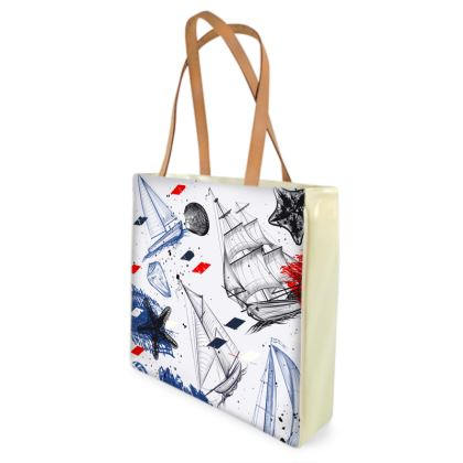 sailing day shopper bag