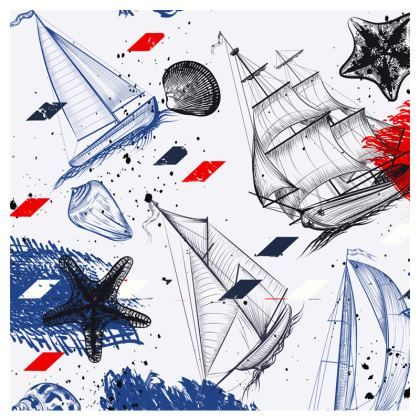 sailing day clutch bag