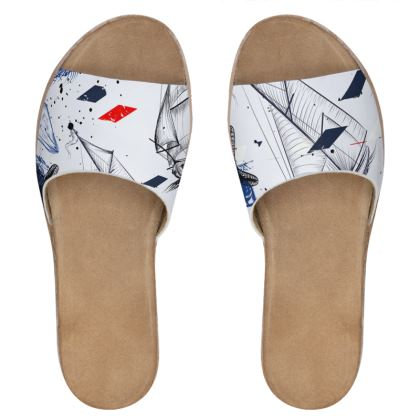 sailing day leather sliders