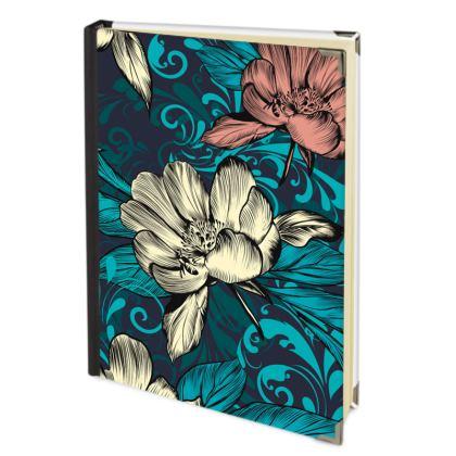 vintage flowers journal