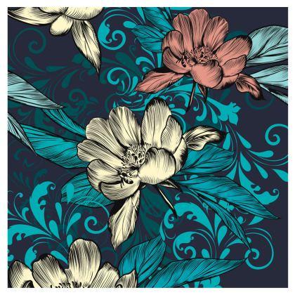 vintage flowers towel