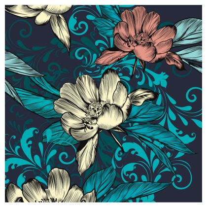 vintage flowers clutch bag