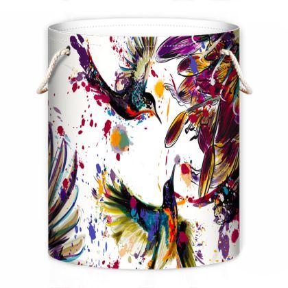 hummingbirds laundry bag