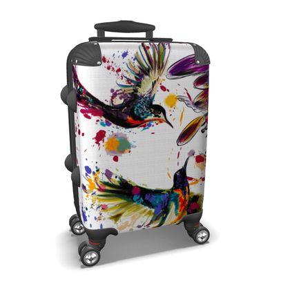 hummingbirds suitcase