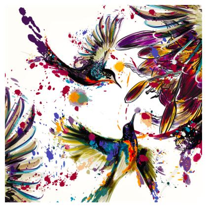 hummingbirds clutch bag