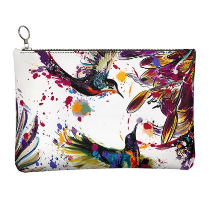 hummingbirds clutch bag