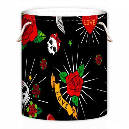 sugar tattoo laundry bag