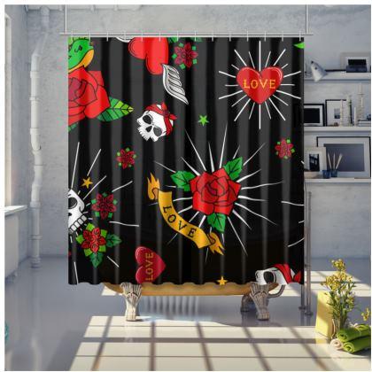sugar tattoo shower curtain