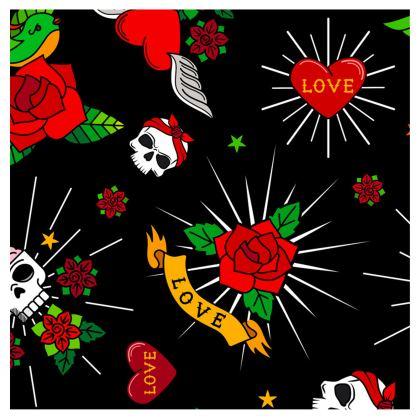 sugar tattoo neck pillow