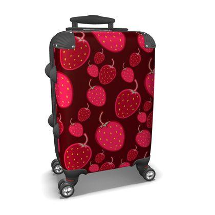 strawberries suitcase