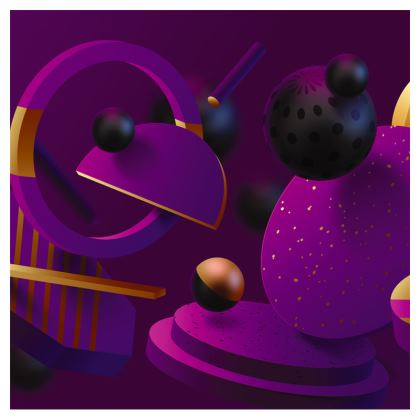 purple 3d geometrical crossbody bag