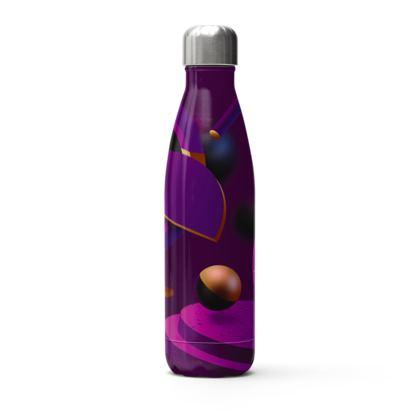 purple 3d geometrical stainless steel thermal bottle