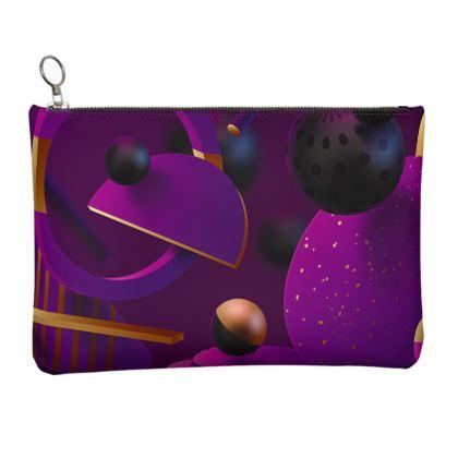 purple 3d geometrical clutch bag