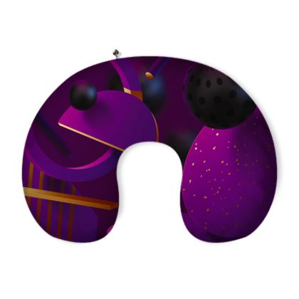 purple 3d geometrical neck pillow