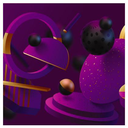 purple 3d geometrical espadrilles