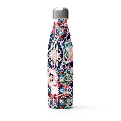 Black and Pink Thermal Printed Water Bottle