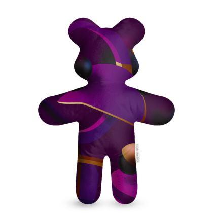 purple 3d geometrical teddy bear