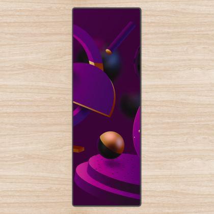 purple 3d geometrical yoga mat