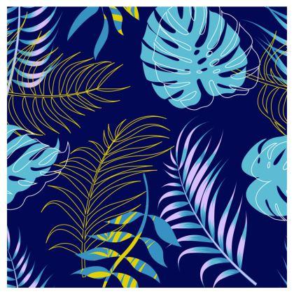 blue leaves travel wallet