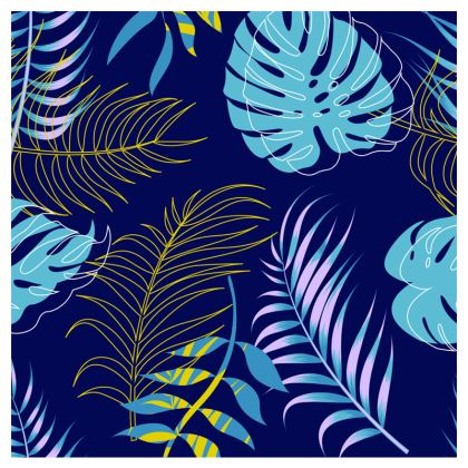 blue leaves clutch bag