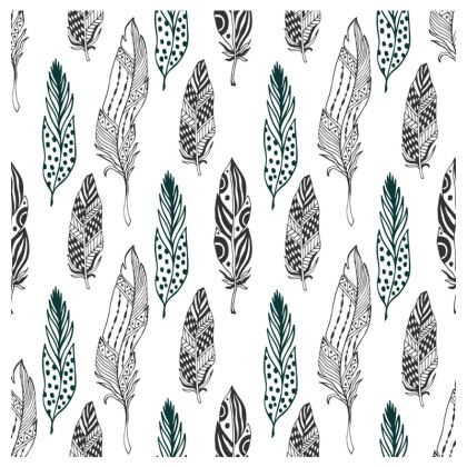 minimal feathers travel wallet