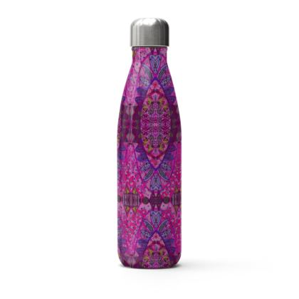 Pink and Purple Printed Thermal Bottle