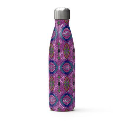 Pink & Purple Thermal Printed Water Bottle