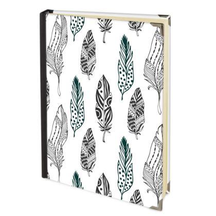 minimal feathers journal