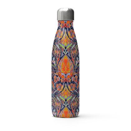 Yellow & Orange Thermal Printed Water Bottle