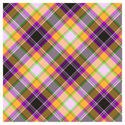 orange plaid crossbody bag