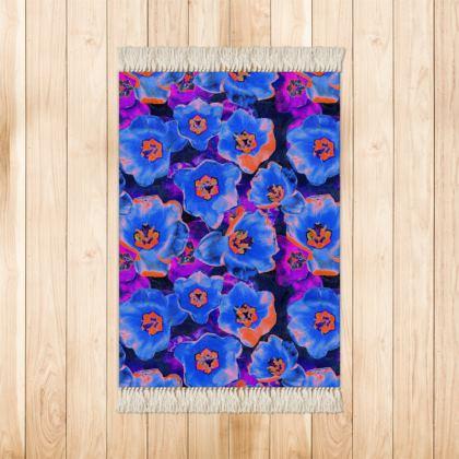 Purple & Blue Small Velvet Rug