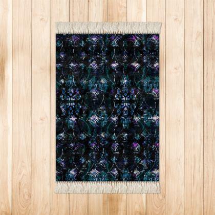 Blue & Black Diamond Small Velvet Rug