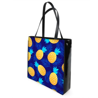 pineapple fun shopper bag